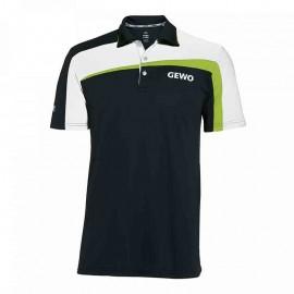 T-Shirt Gewo Teramo S18-1 Microfiber Noir et Blanc