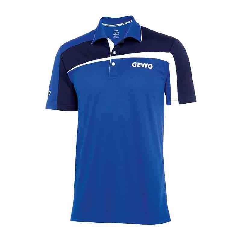 T-Shirt Gewo Teramo S18-1 Microfiber Bleu et Bleu foncé