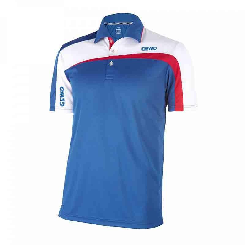 T-Shirt Gewo Teramo S18-1 Microfiber Bleu clair et Blanc