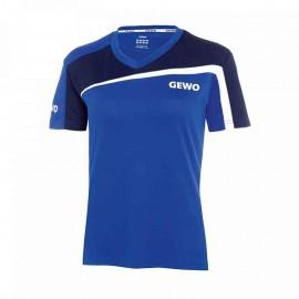T-shirt Gewo Lady S18-3 bleu et bleu foncé